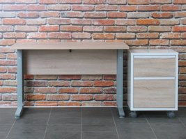 Tvilum Bureau Prima met ladenblok, 120 cm breed