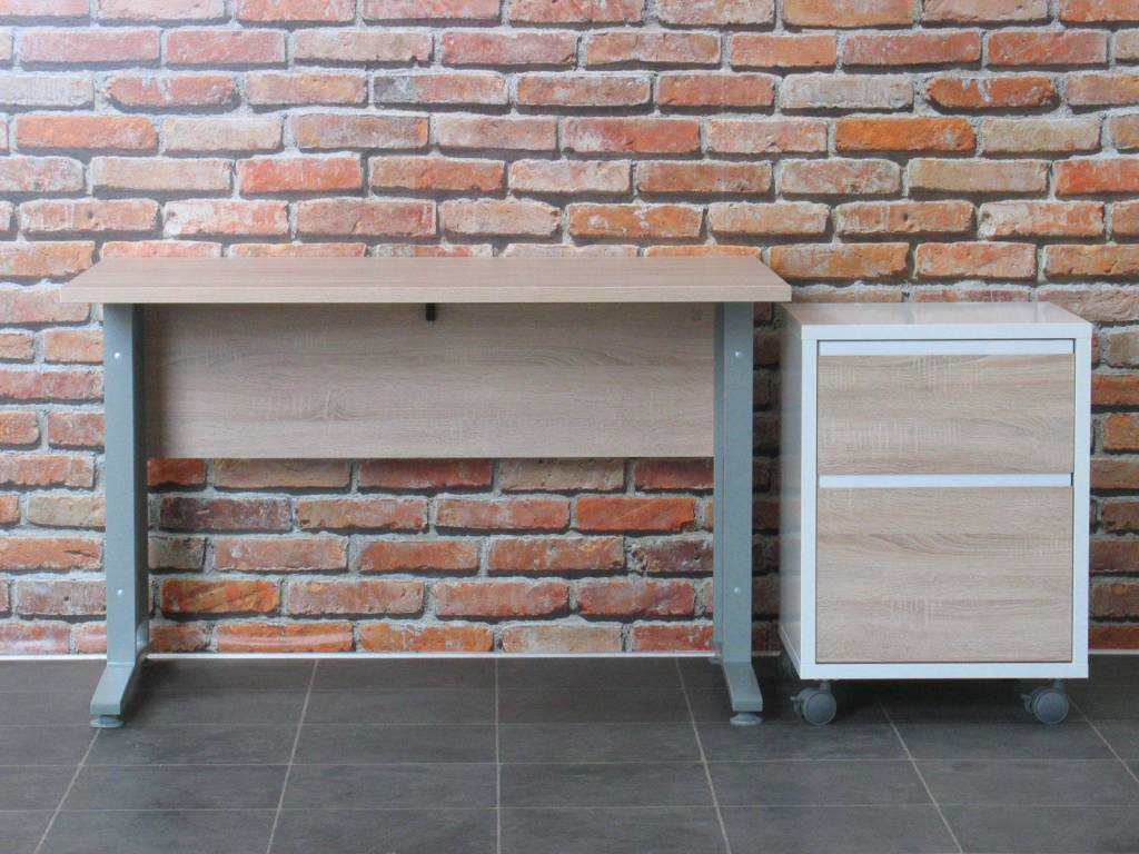 Tvilum bureau prima met ladenblok 120 cm breed for Ladenblok rood
