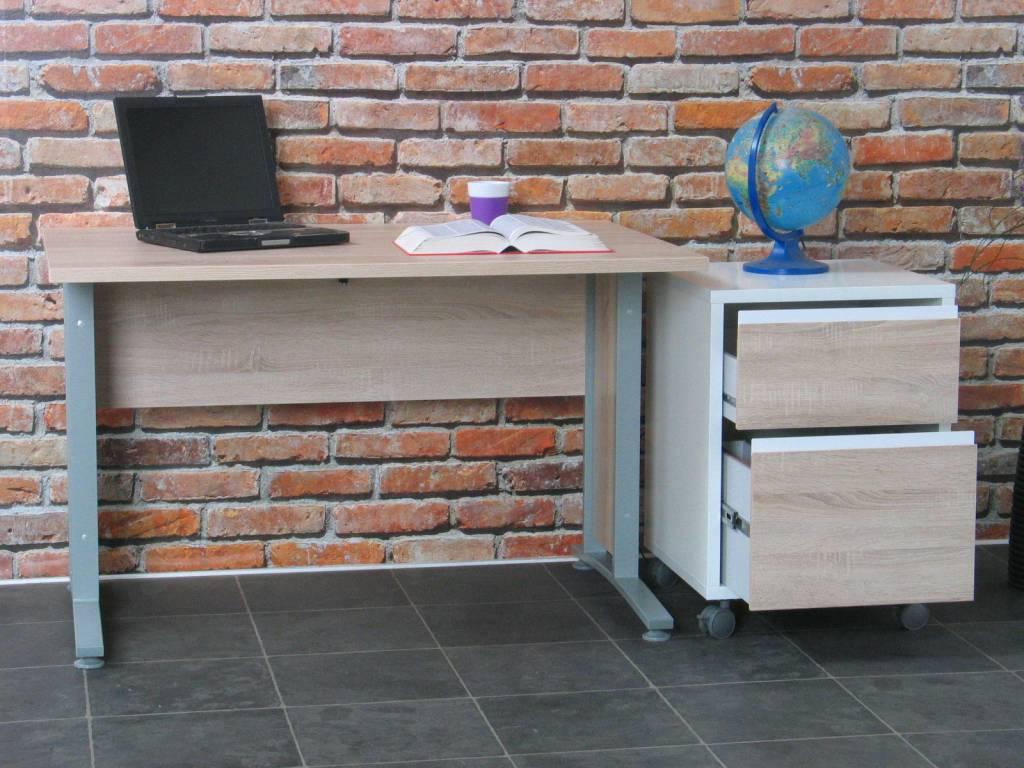 Tvilum bureau prima met ladenblok 120 cm breed for Ladenblok keuken
