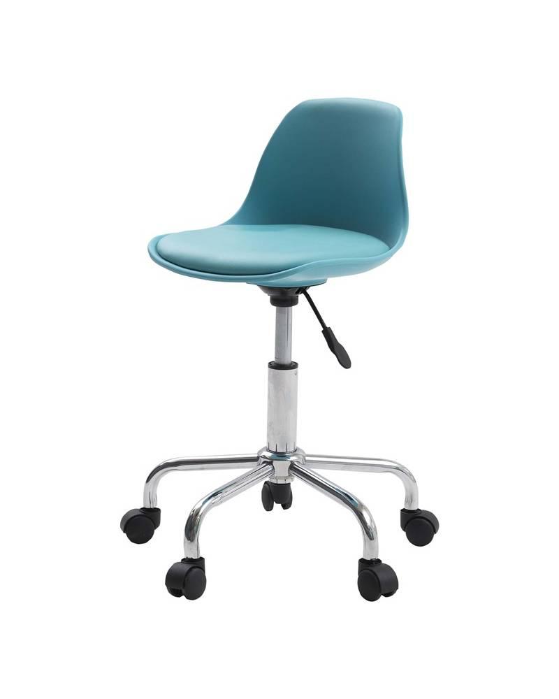 Design bureaustoel melanie blauw / chroom   hioshop.nl   online ...