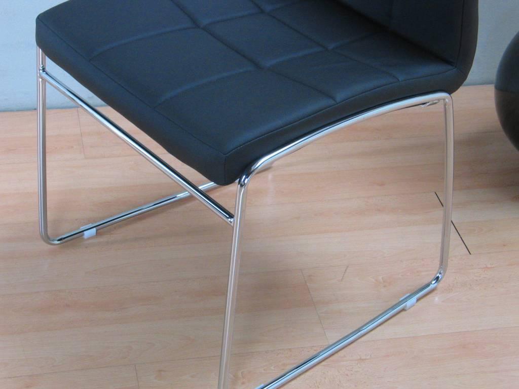 Eethoek Venetië wit met 6 zwarte stoelen - hioshop.nl - online ...
