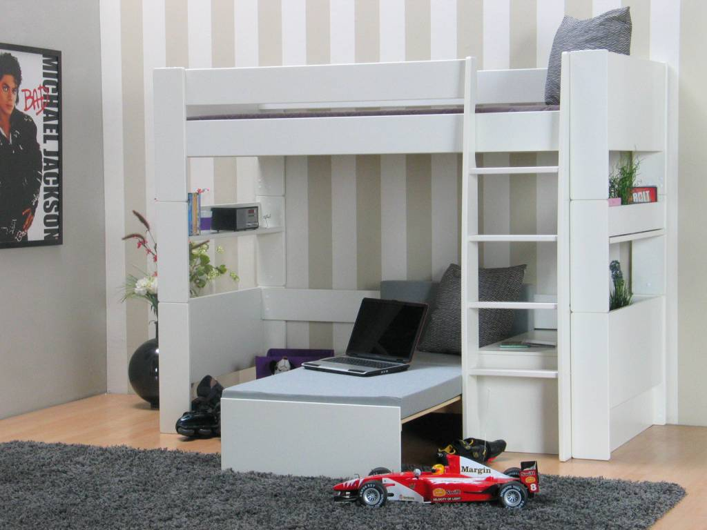 Slaapkamer Bankje Kopen : Hoogslaper met bankje Oliver Kids - hioshop ...