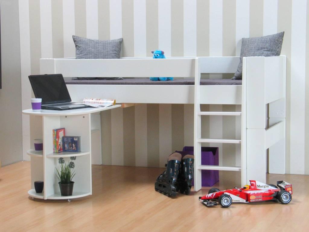 Halfhoogslaper bed met bureau Oliver Kids - hioshop.nl - online ...