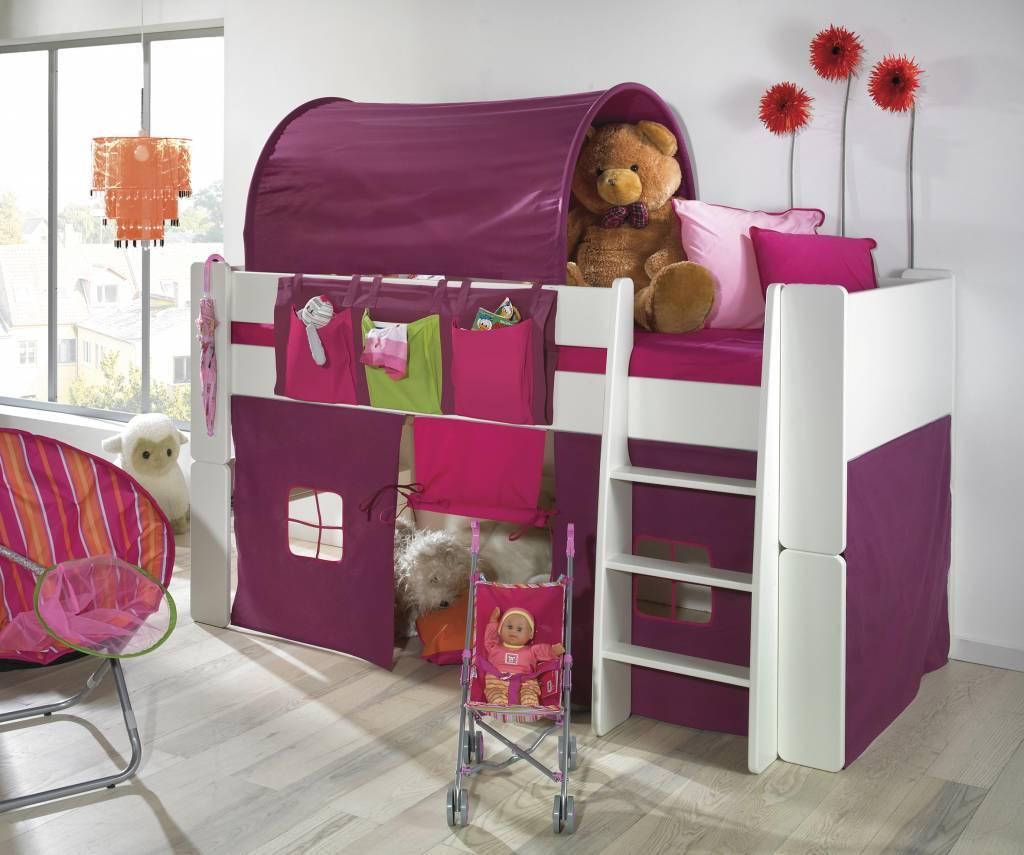 Bedtunnel lila/roze oliver kids   hioshop.nl   online meubels ...
