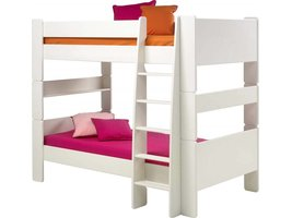 Wit stapelbed Molly Kids met lattenbodems