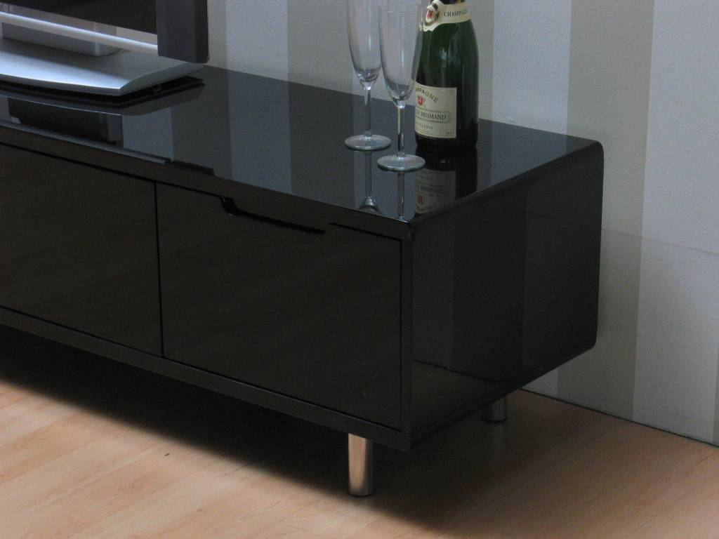 meubel Isa zwart hoogglans 180 cm breed - hioshop.nl - online meubels ...