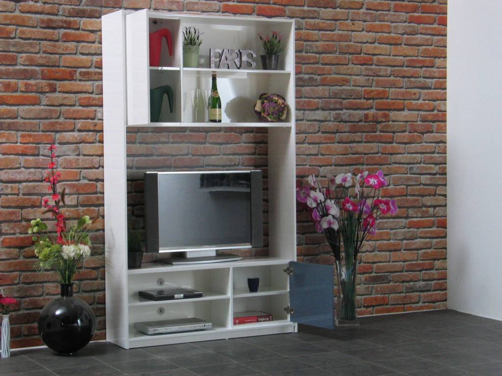 tv wand uptown 120 cm breed online meubels goedkope meubels. Black Bedroom Furniture Sets. Home Design Ideas