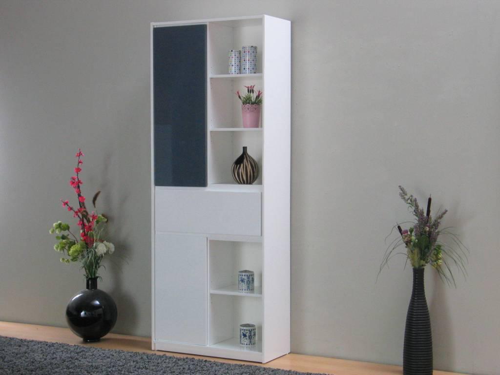 Goedkope Keuken Opbergkast : Opbergkast design wit en grijs hoogglans Uptown – hioshop.nl – online