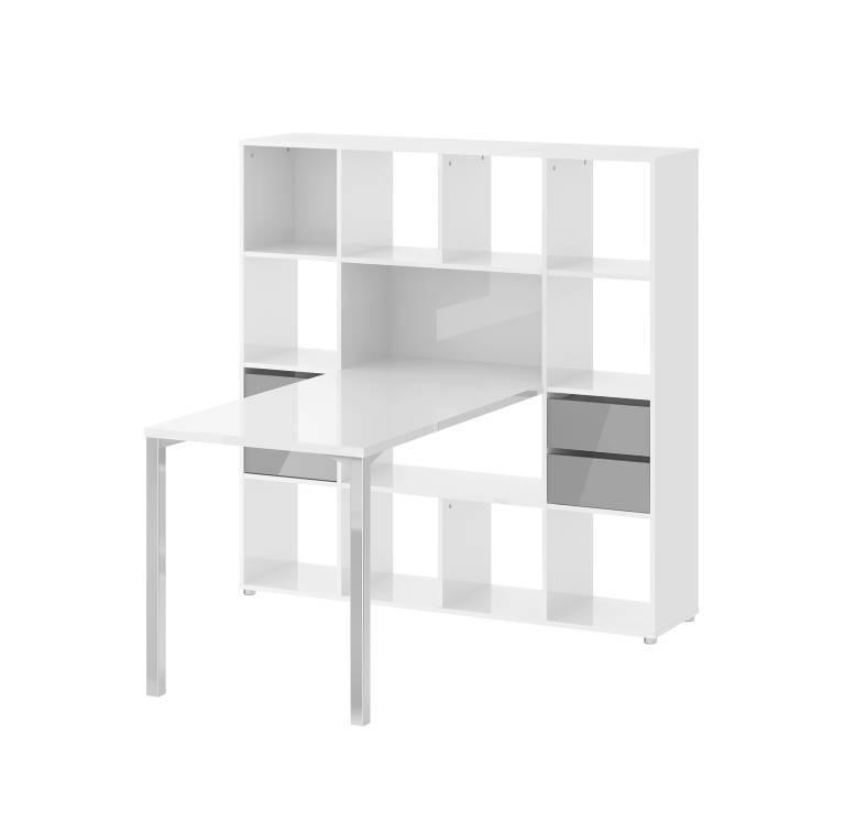 Goedkope Keuken Opbergkast : wit grijs hoogglans – hioshop.nl – online meubels – goedkope meubels