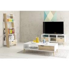 Napoli - wit en eiken / zwart en wit trendy meubels - woonkamer en slaapkamer