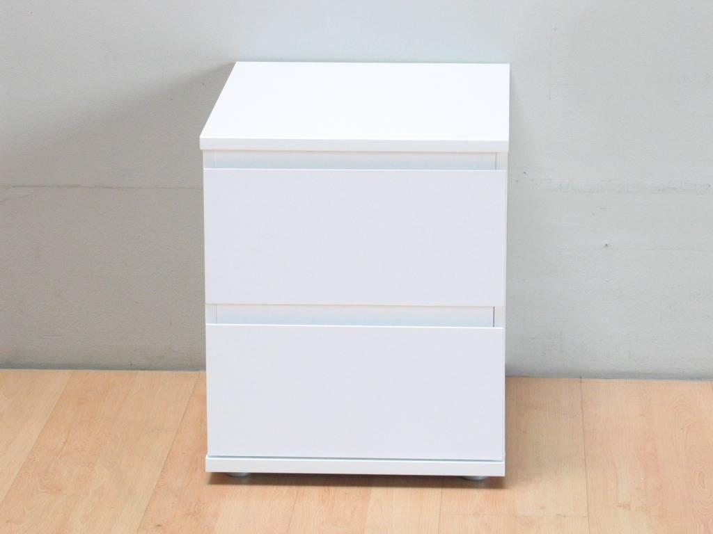 Nachtkastje mia wit 40cm breed 48 5cm hoog en 34cm diep for Ladeblok 40 cm breed