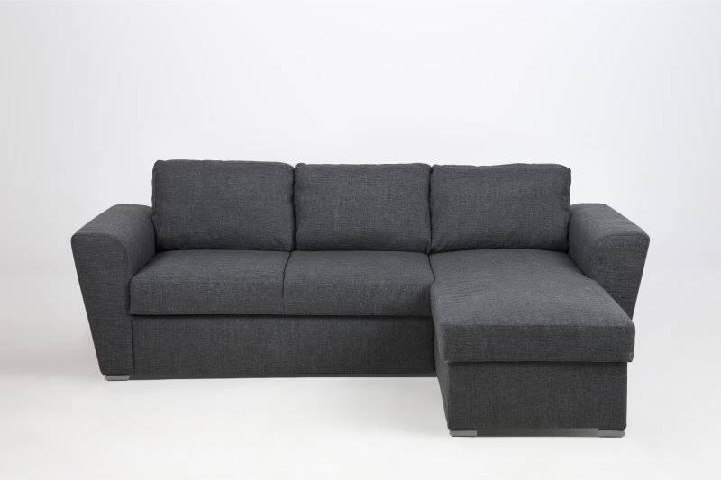 Slaapbank Stan Lux met longchair en opbergvak