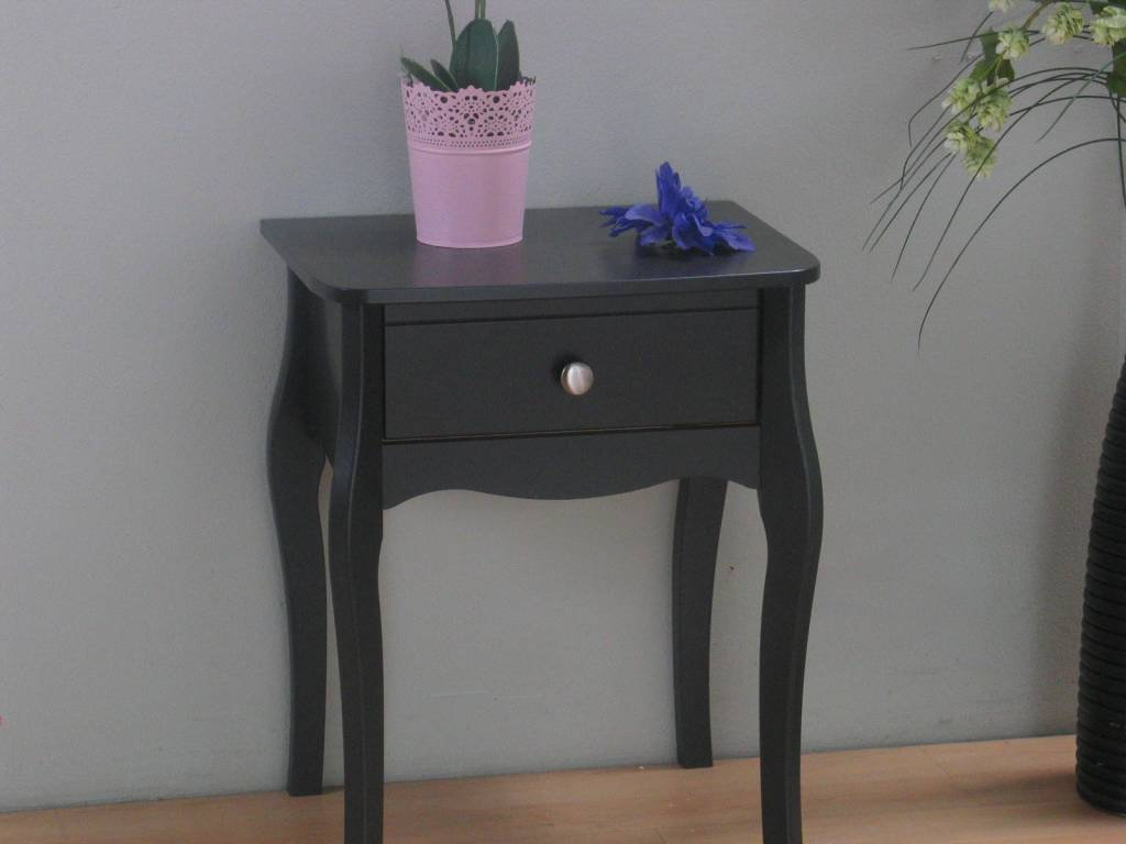 Nachtkastje met lade grijs Baroque - hioshop.nl - online meubels ...