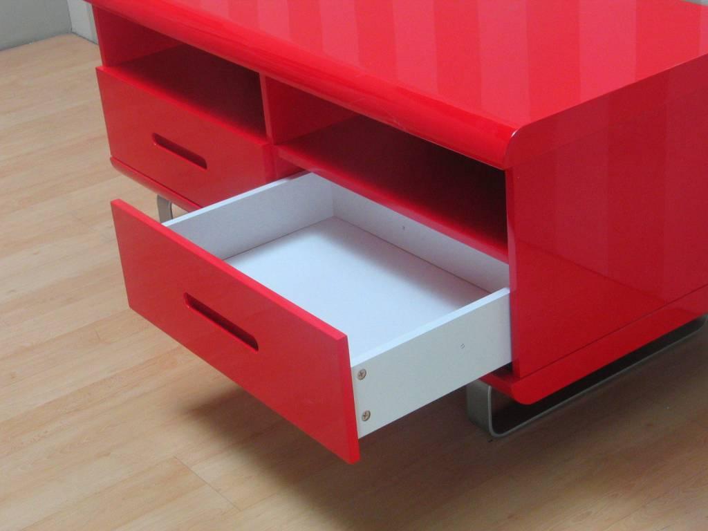 Tv meubel spacy rood hoogglans 120 cm - Meubilair tv rode ...