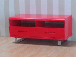 TV-meubel Spacy rood hoogglans 120 cm