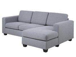 2-zitsbank lichtgrijs Wise met chaise longue
