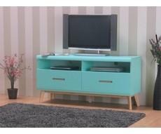 TV-meubel Jazz mintgroen met 2 lades en 2 vakken