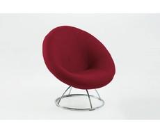 Fauteuil donker rood Garni design