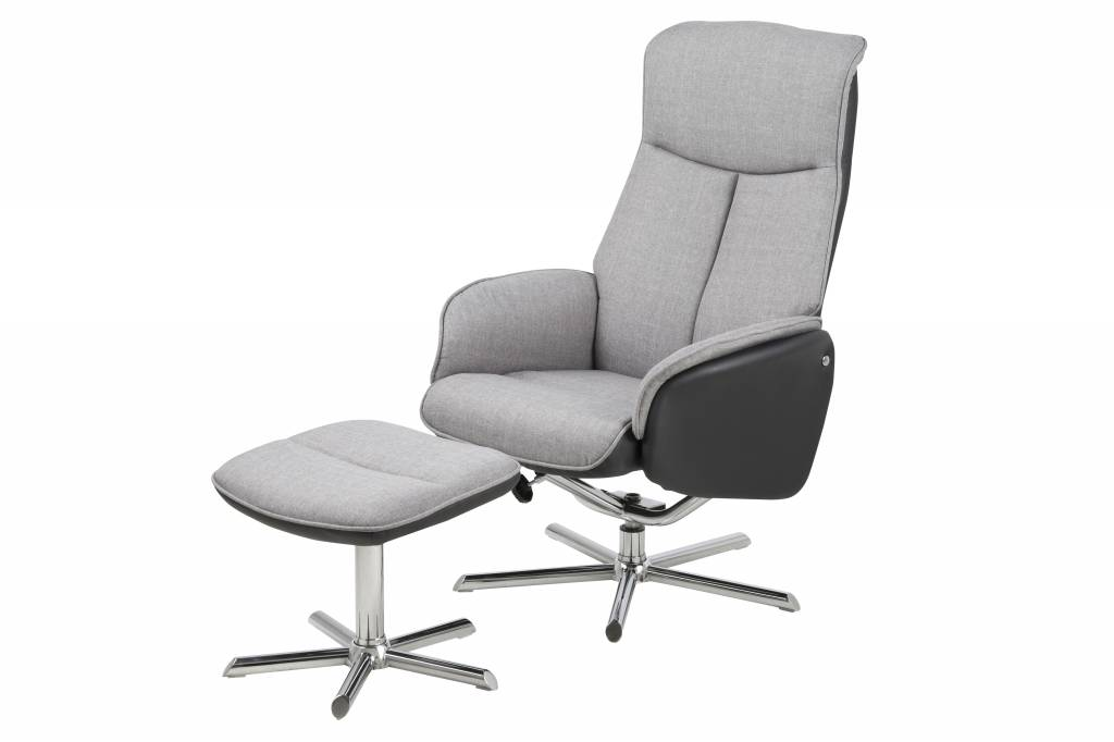 ... hocker Ann lichtgrijs - hioshop.nl - online meubels - goedkope meubels