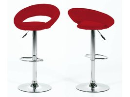 Barkruk Plus rood design - set van 2