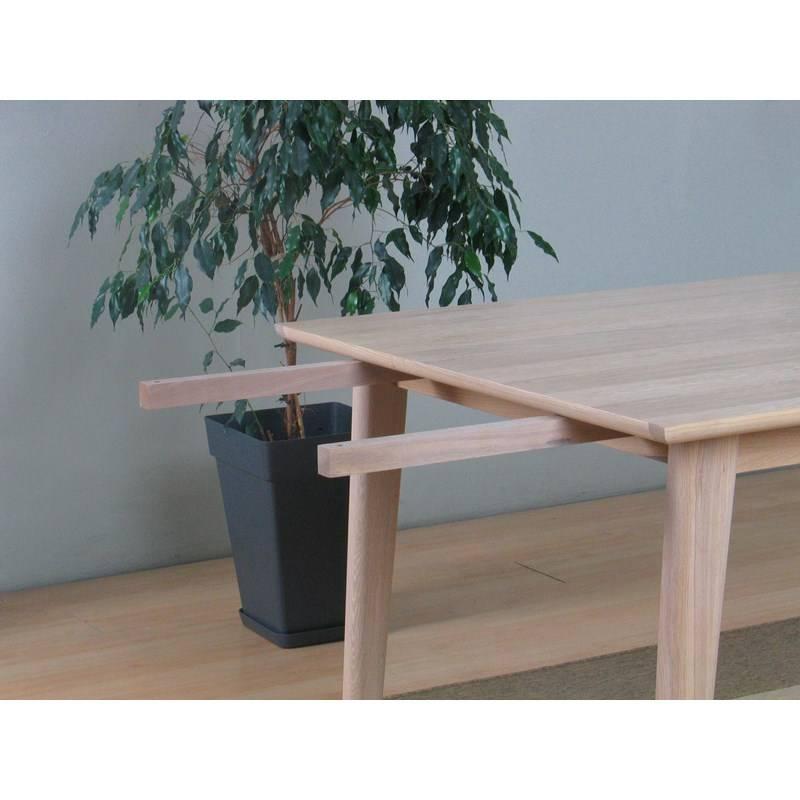 Wit eiken woonkamer : Eethoek Cactus eiken tafel met 6 kuipstoelen wit ...
