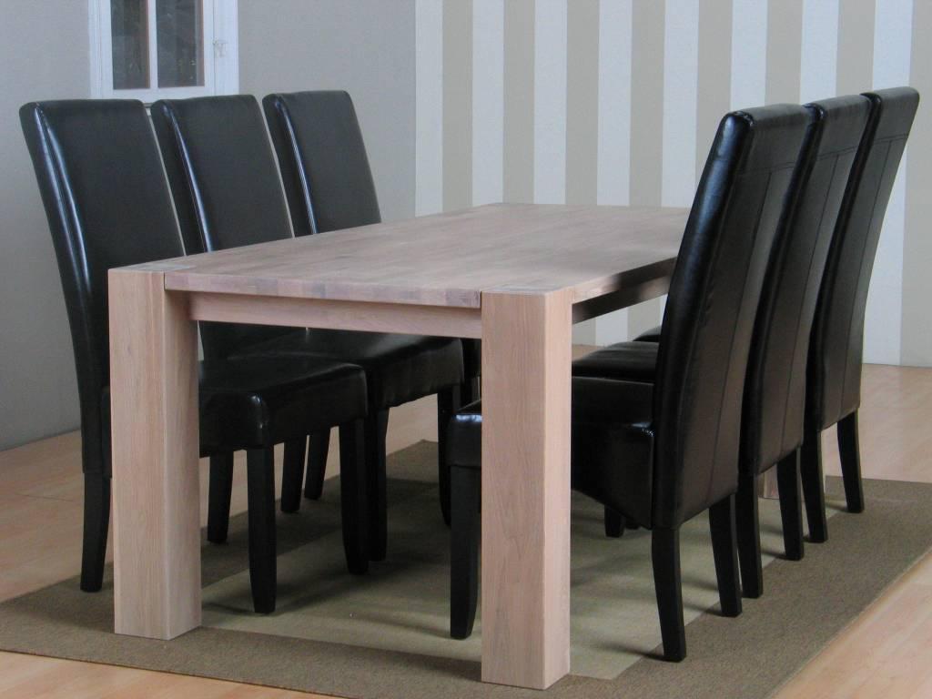 Fabulous beautiful goedkope eettafel met stoelen eethoek for Zwarte eettafel stoelen