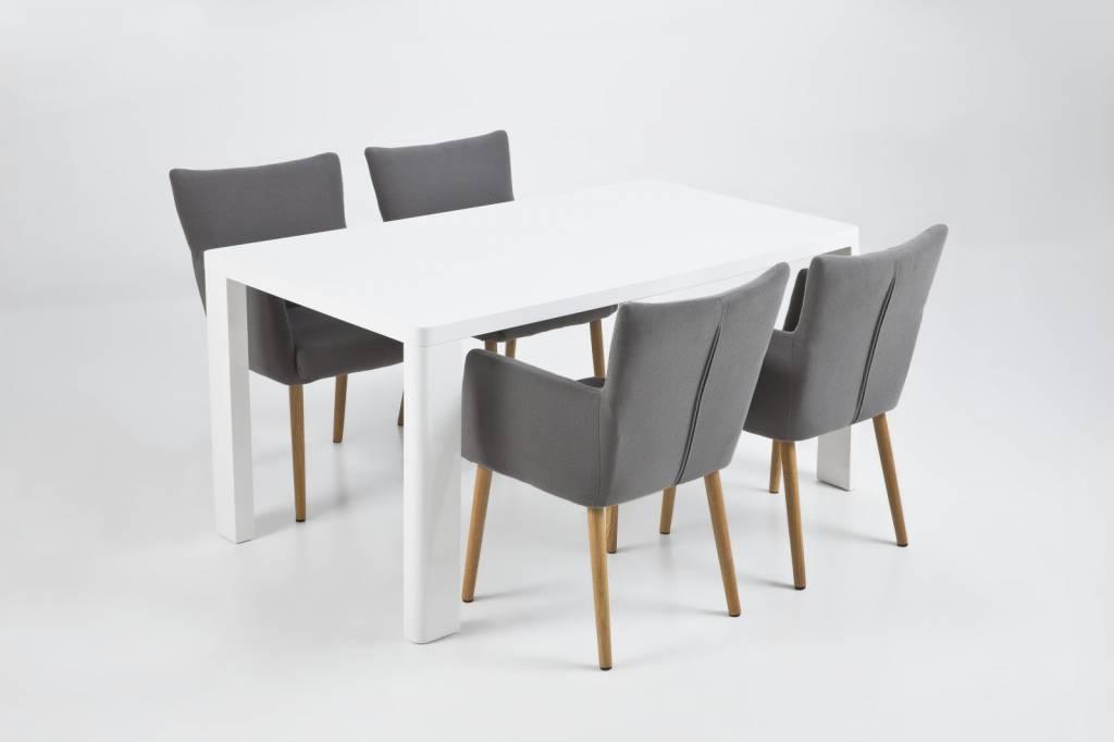 Eetkamer eetkamerstoelen met armleuning leer afbeeldingen : FYN Nelson eetkamerstoel met armleuning grijs