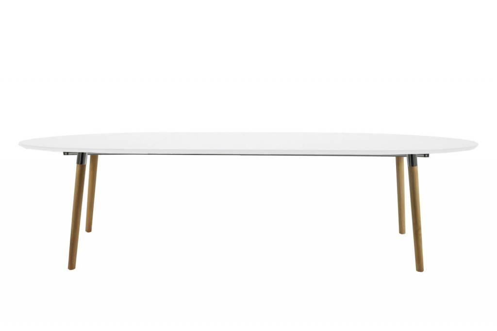 Tafel wit hout eettafel wit met houten blad tafel wit met