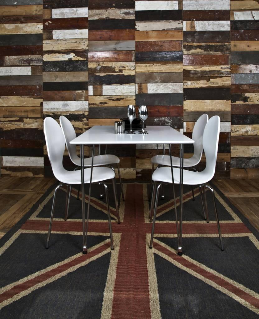 FYN Leonie eetkamertafel 120cm wit hout - hioshop.nl - online meubels ...