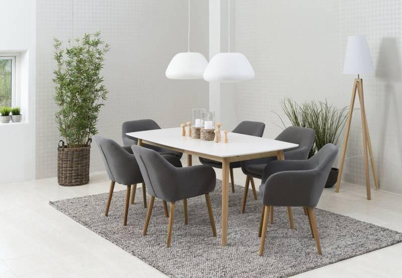 Fyn enzo eetkamerstoel met armleuning lichtgrijs for Goedkope eetkamerstoelen met armleuning