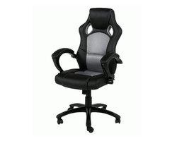 FYN Spoetnik bureaustoel lichtgrijs/zwart