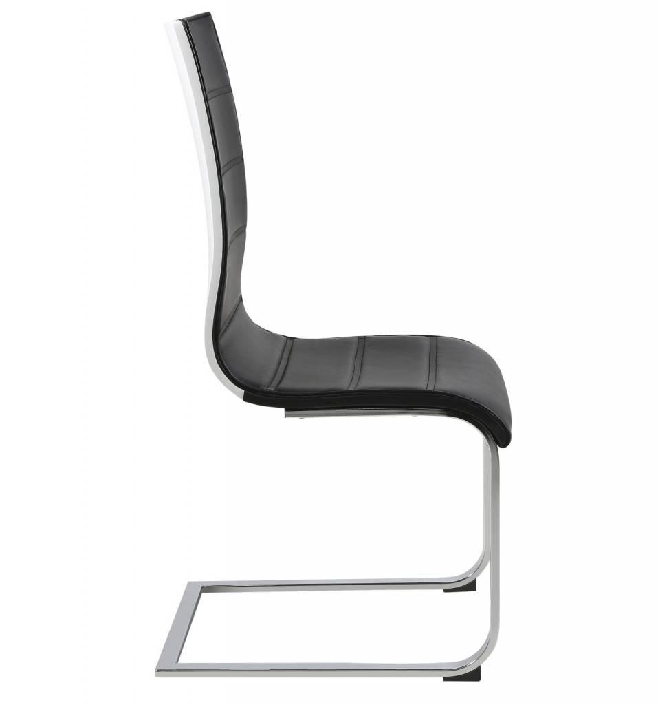 Fyn swipe swingstoel eetkamerstoel zwart/wit   hioshop.nl   online ...