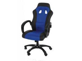 FYN Rita - Bureaustoel - mesh/Lederlook Blauw/Zwart - met armleuningen en functie