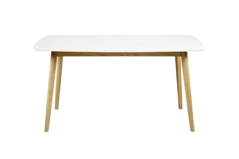 Nico - eettafel - wit/eiken - 150x80 cm