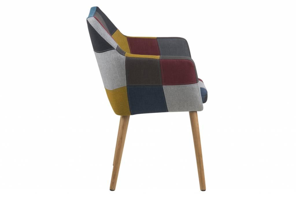 Stoel Met Leuning : Fyn noortje stoel met armleuning patchwork meerkleurig
