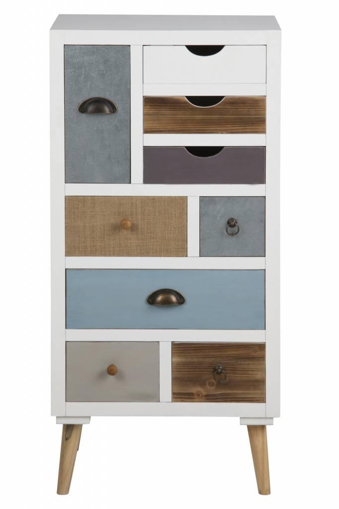 fyn thijs kommode wit ladekast met 9 lades. Black Bedroom Furniture Sets. Home Design Ideas