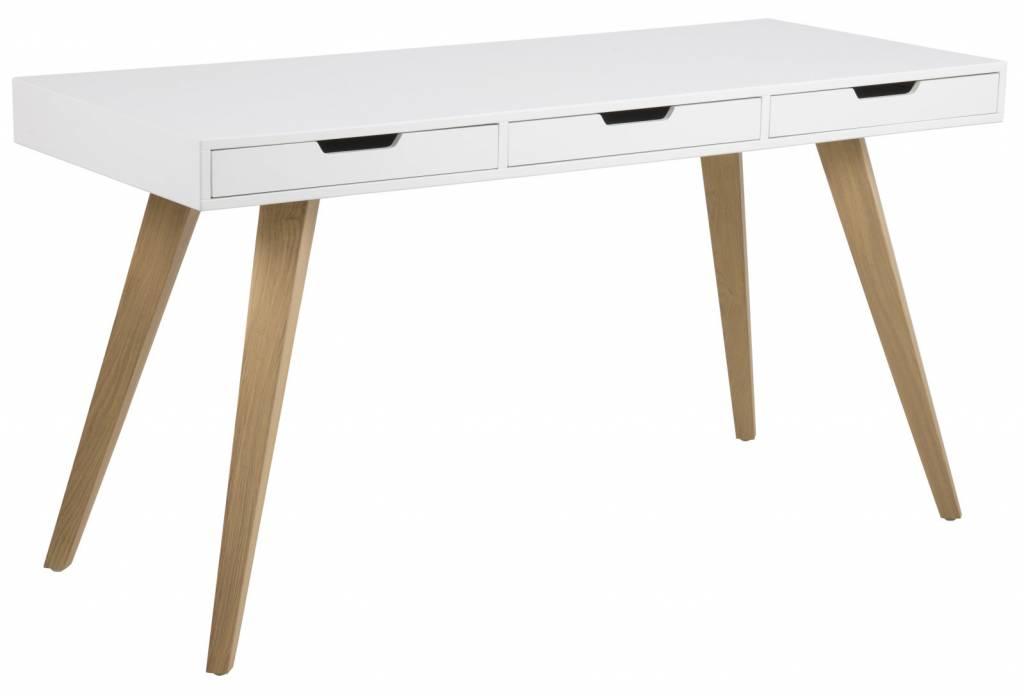 fyn essa bureau mat wit met 3 lades. Black Bedroom Furniture Sets. Home Design Ideas