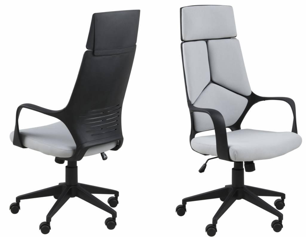 Duro - Bureaustoel hoge rug - Lichtgrijs