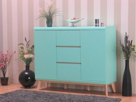 Dressoir Jazz modern highboard mintgroen