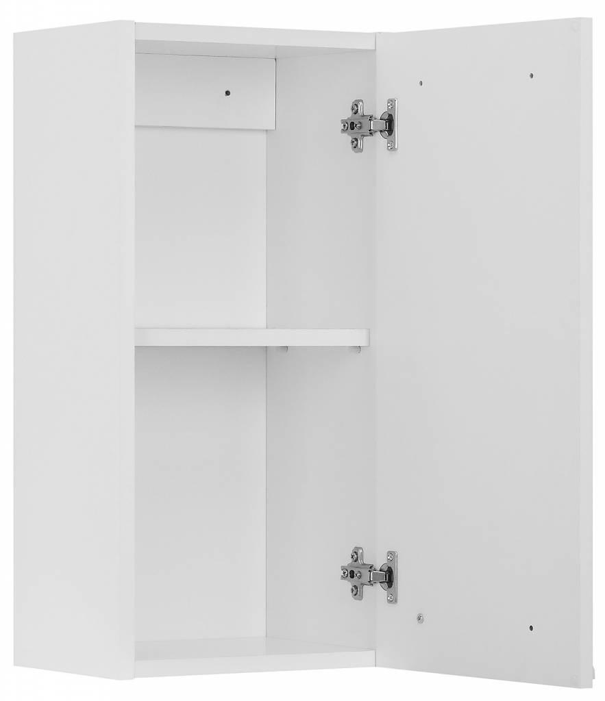 Hioshop Badkamerkast bovenkast Athena met 1 deurtje wit hoogglans