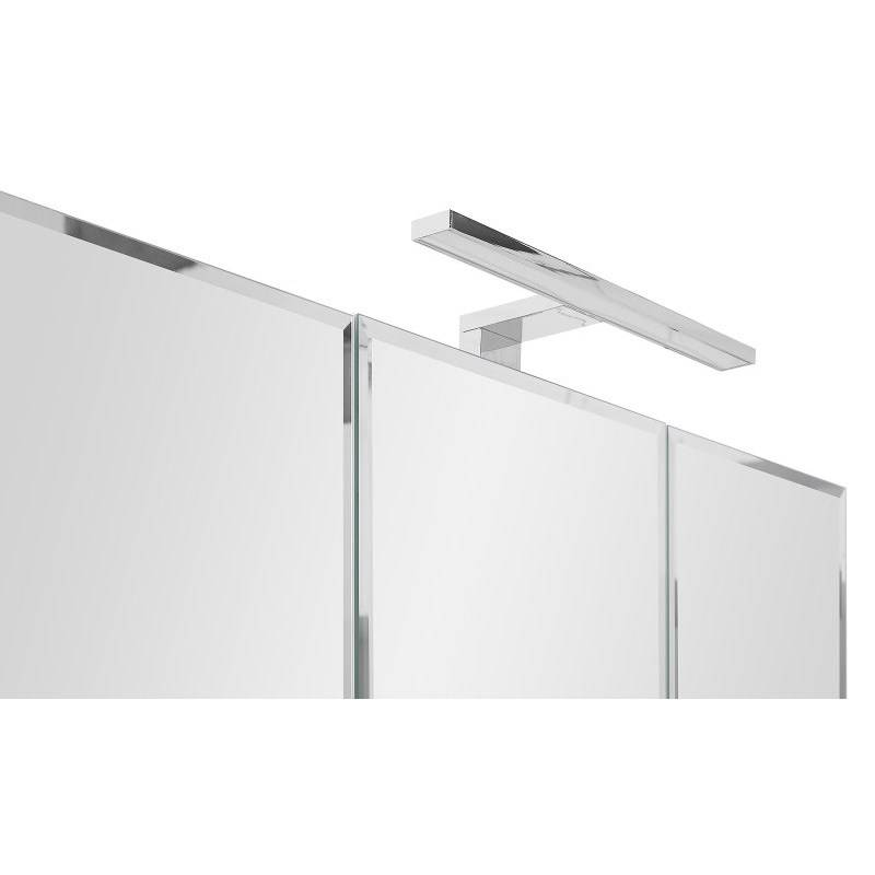 Spiegelkast Athena wit hoogglans 80cm breed incl LED verlichting