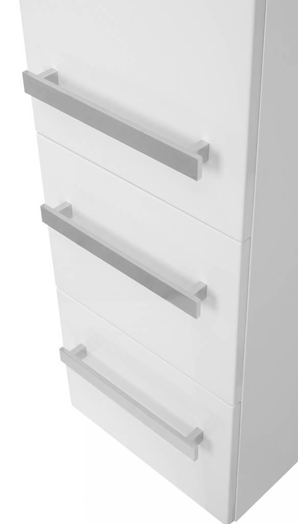 Wandtegels Badkamer Nl ~ Badkamerkast carla met deur en laden wit hoogglans kolomkast