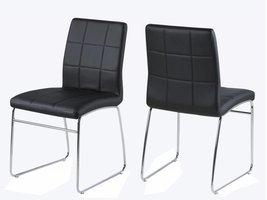 Eetkamerstoel zwart Cube - set van 2 stoelen