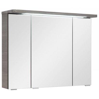 Home Spiegelkast 80 cm Gloria grafiet grijs incl. LED verlichting