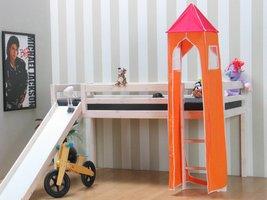 Thuka Toren oranje en roze bij kinderbed
