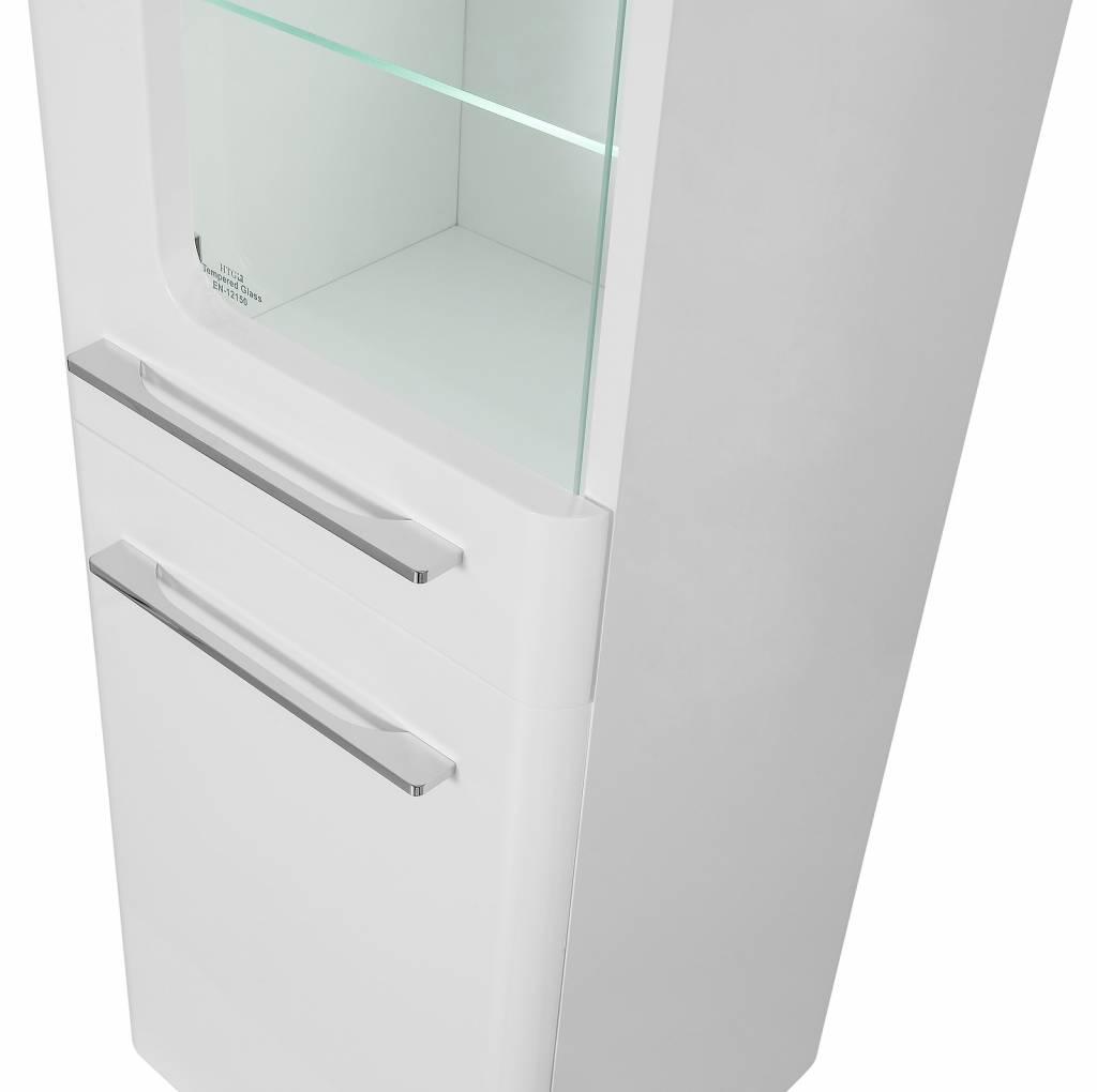 Kolomkast badkamer hoogglans wit gloria online meubels goedkope meubels - Wit badkamer design meubels ...