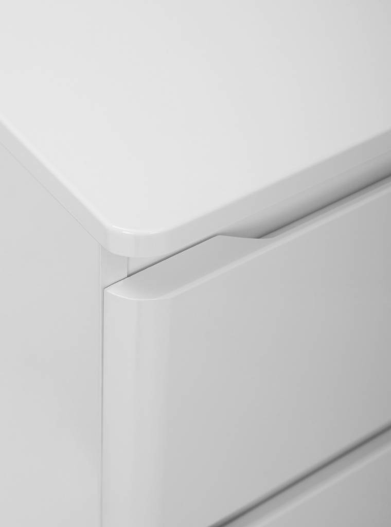 Hioshop Badkamer onderkast Maja badkamerkast hoogglans wit