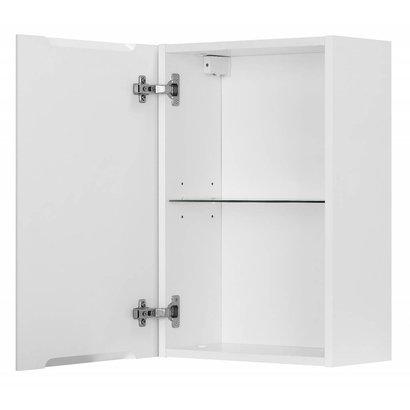 hioshop badkamer zijkast maja badkamerkast hoogglans wit -, Badkamer