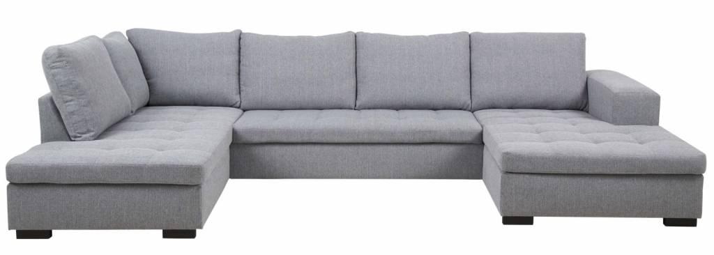 FYN Brian - hoekbank met hocker links en chaise rechts - lichtgrijs