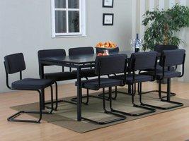 Peak vergaderset eethoek grijs met 8 grijze stoelen